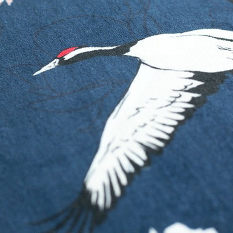 Japanese crane, a pictorial symbol of a long life